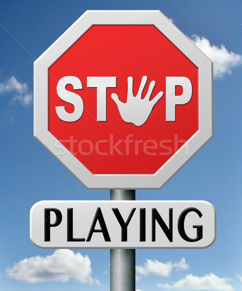 stop playing Stock photo © kikkerdirk