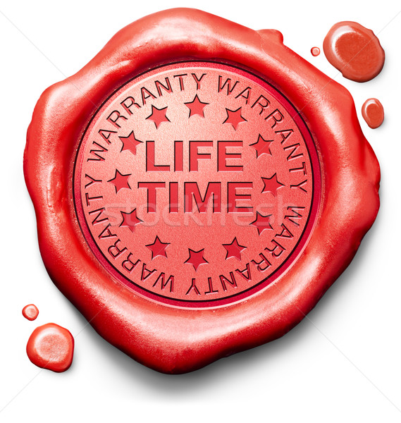 life time warranty Stock photo © kikkerdirk
