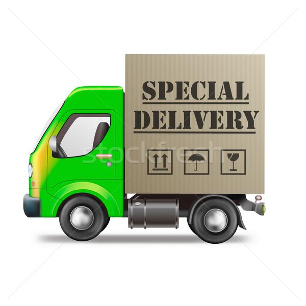 Speciale camion di consegna spedizione urgente pacchetto Foto d'archivio © kikkerdirk