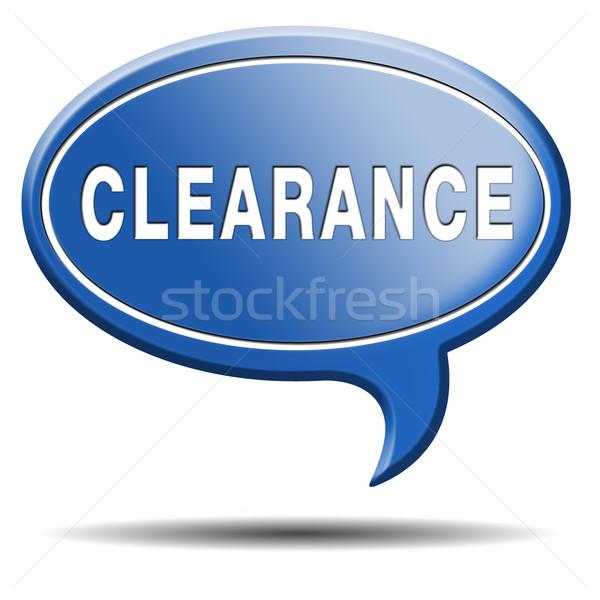 Verkoop verkoop prijzen af machtiging Stockfoto © kikkerdirk