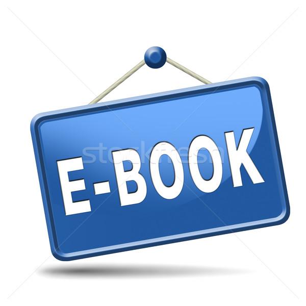 電子ブック ボタン ダウンロード を読む を 電子 ストックフォト © kikkerdirk