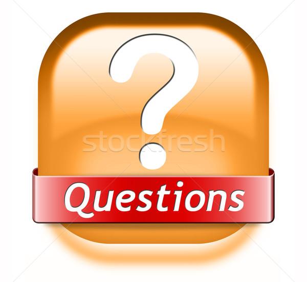 Perguntas soluções necessidade sério respostas apoiar Foto stock © kikkerdirk