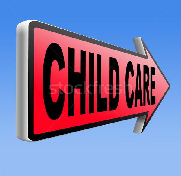 Cuidado de los niños crianza de los hijos protección abuso infantil nino Foto stock © kikkerdirk