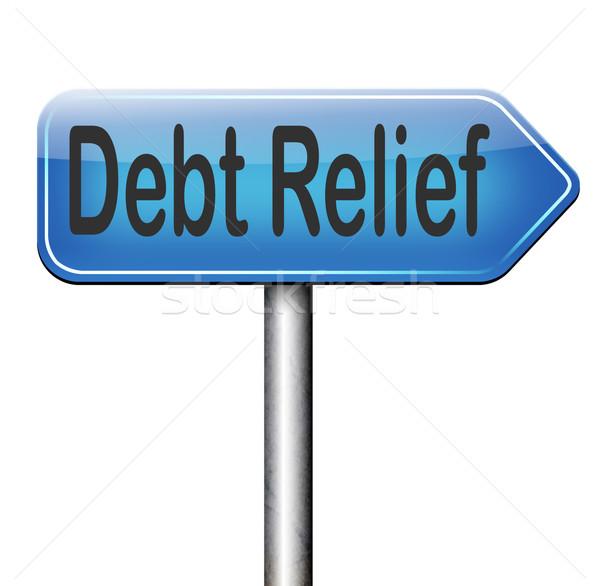 debt relief Stock photo © kikkerdirk