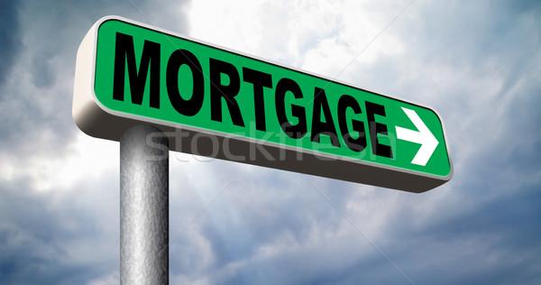 Hipoteka domu pożyczka ceny powrót Zdjęcia stock © kikkerdirk