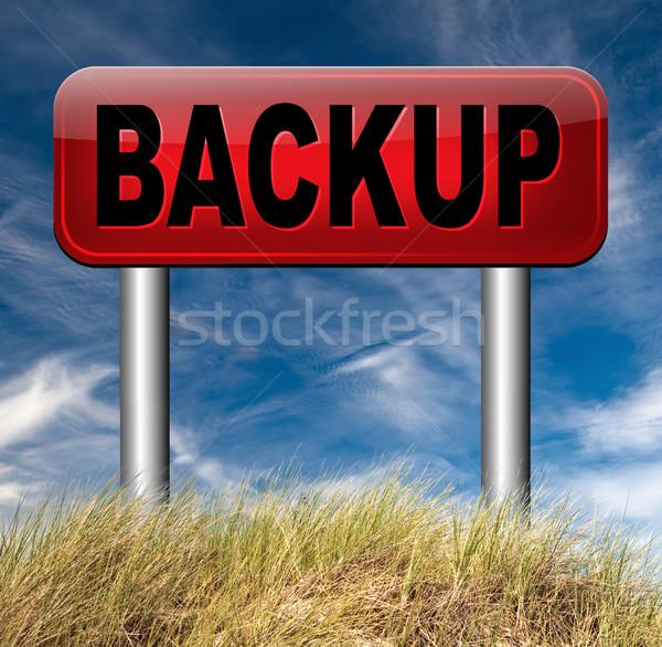 Biztonsági mentés adat szoftver másolat felhő lemez Stock fotó © kikkerdirk
