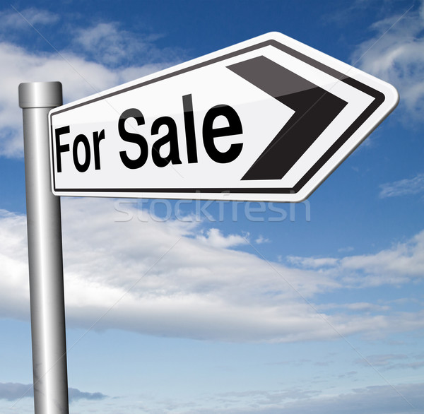 Satış imzalamak yol işareti satın alma Internet Stok fotoğraf © kikkerdirk