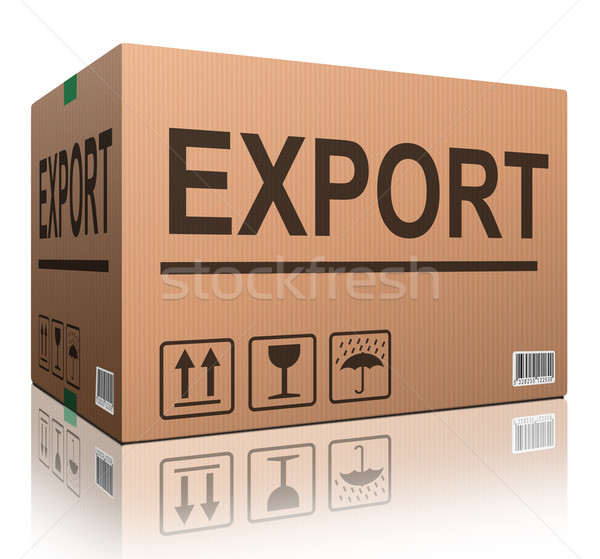 export cardboard box Stock photo © kikkerdirk