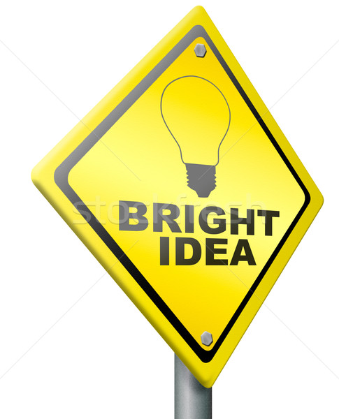 bright idea innovation eureka Stock photo © kikkerdirk