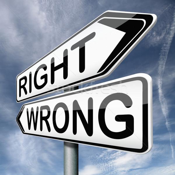 right or wrong Stock photo © kikkerdirk