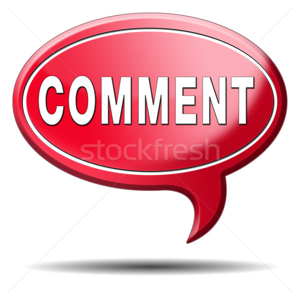 comment icon Stock photo © kikkerdirk