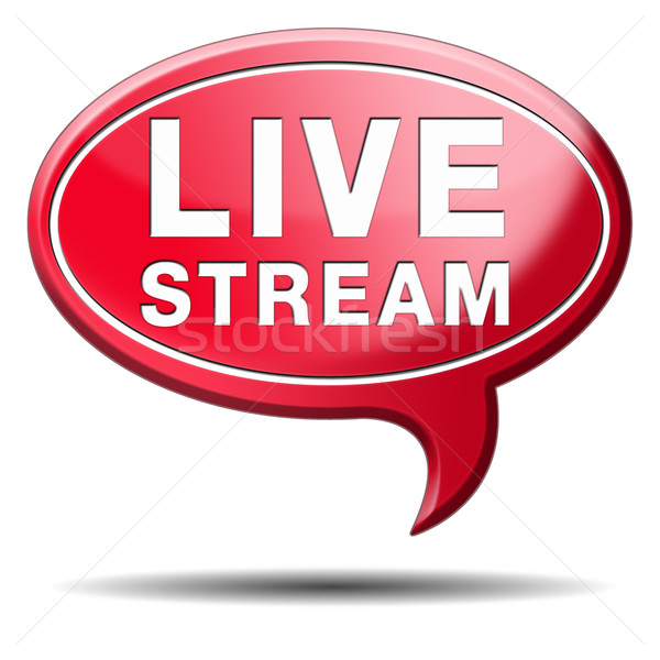 Stock photo: live stream