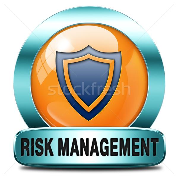 Gestão de risco avaliação ícone segurança primeiro saúde Foto stock © kikkerdirk