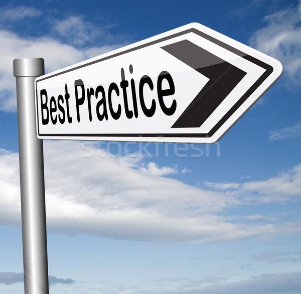Best praktijk goede technologie gebruikt strategisch Stockfoto © kikkerdirk