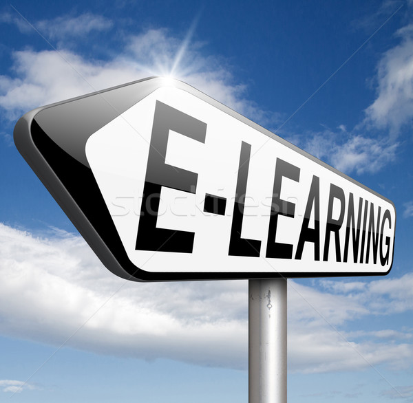 ストックフォト: を · インターネット · 教育 · 学習 · オープン