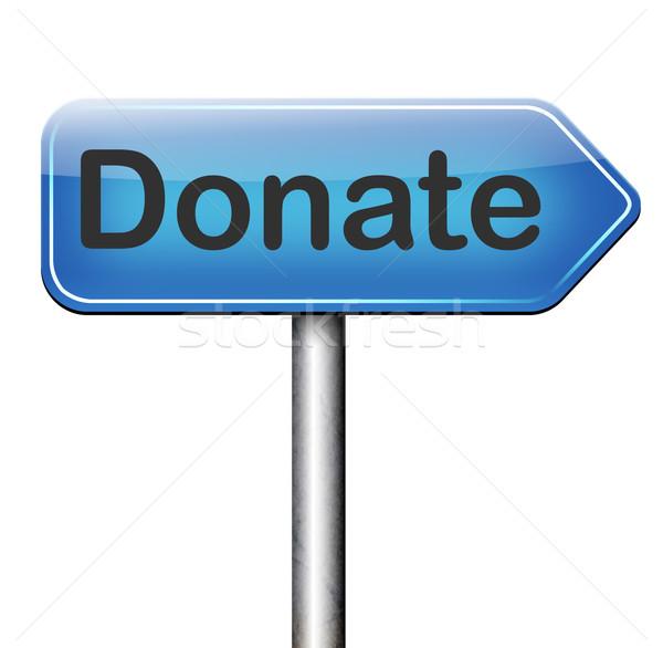 Darować dobroczynność dać hojny darowizna wsparcia Zdjęcia stock © kikkerdirk