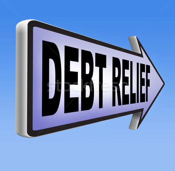 долг рельеф банкротство кредитных жилье пузырьки Сток-фото © kikkerdirk
