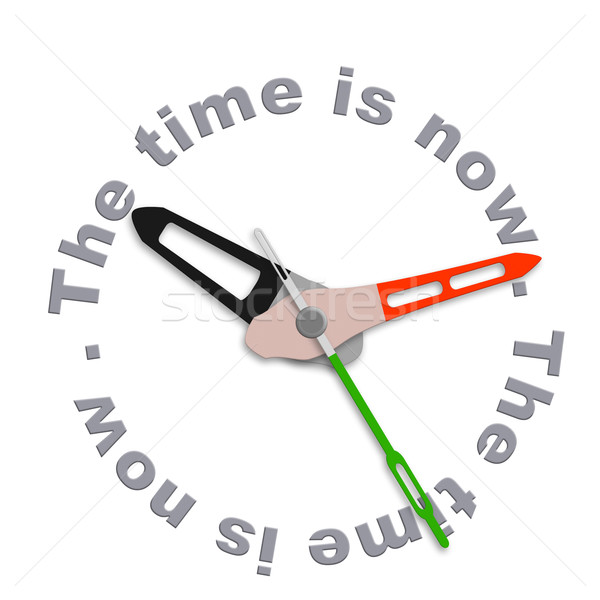 the time is now Stock photo © kikkerdirk