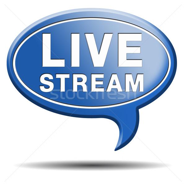 live stream Stock photo © kikkerdirk