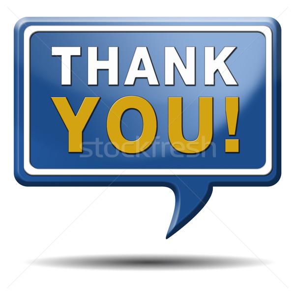 Köszönjük jegyzet felirat kifejez sok köszönet Stock fotó © kikkerdirk