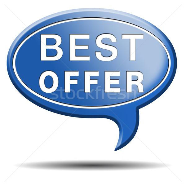 Legjobb ajánlat ár érték pénz háló Stock fotó © kikkerdirk