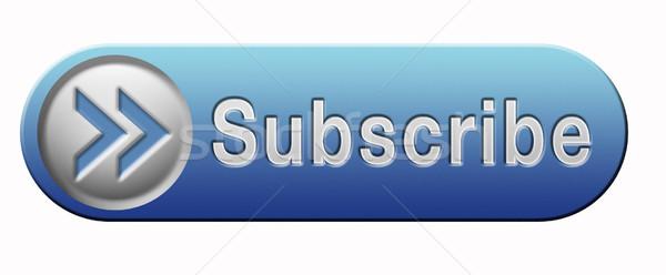 Abbonamento pulsante online libero appartenenza newsletter Foto d'archivio © kikkerdirk
