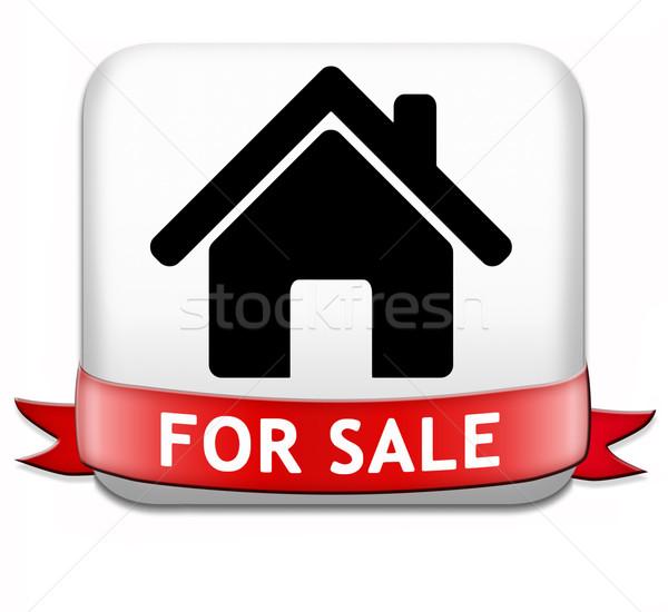 Casa vendita segno banner appartamento Foto d'archivio © kikkerdirk