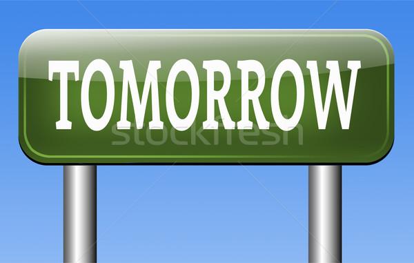 Morgen schema volgende dag banner binnenkort Stockfoto © kikkerdirk