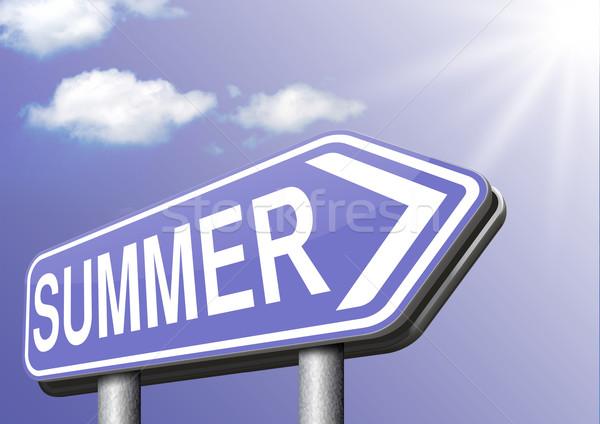 Lata czasu wakacje wakacje cieszyć się słońce Zdjęcia stock © kikkerdirk