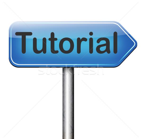 Eğitimi yol işareti öğrenmek çevrimiçi video ders Stok fotoğraf © kikkerdirk