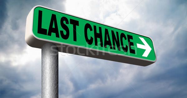Utolsó esély végső ajánlat jelzőtábla nyíl Stock fotó © kikkerdirk