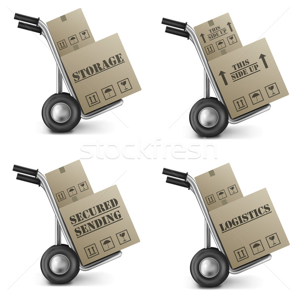 secured sending cardboard box Stock photo © kikkerdirk