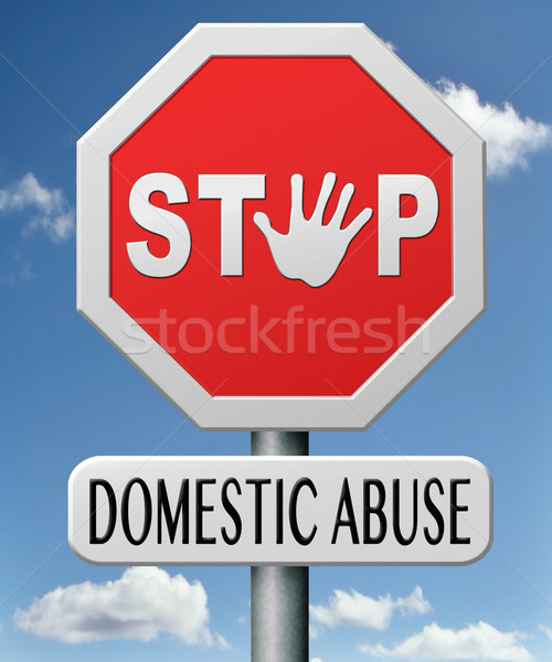 stop domestic violence Stock photo © kikkerdirk
