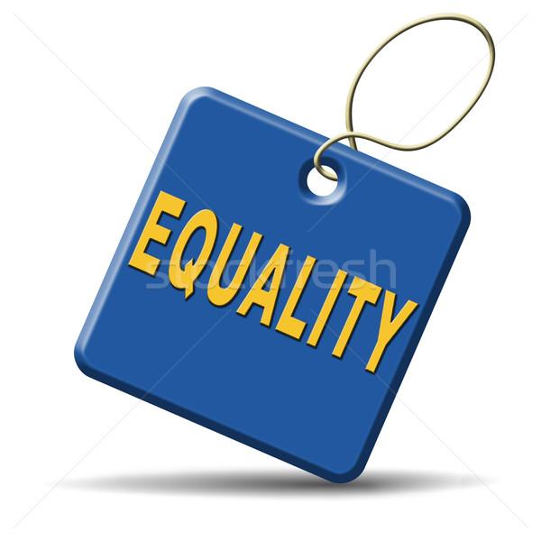平等 連帯 等しい ストックフォト © kikkerdirk