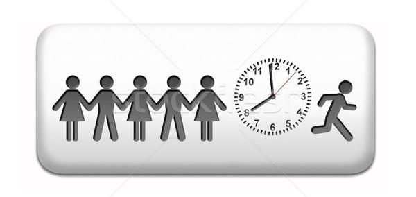 Termijn werken tijd druk stipt schema Stockfoto © kikkerdirk