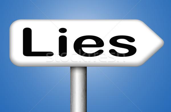 Hazugságok ígéret törik megtévesztés szöveg senki Stock fotó © kikkerdirk