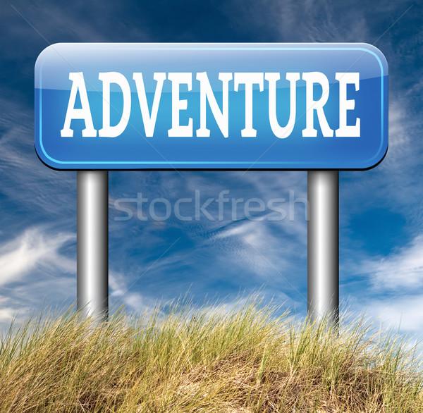 Macera maceraperest seyahat keşfetmek dünya açık havada Stok fotoğraf © kikkerdirk