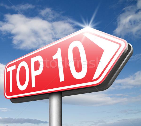Foto d'archivio: Top · 10 · classifiche · elenco · pop
