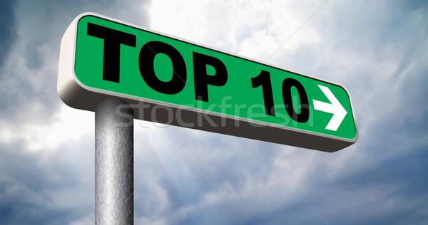 Felső 10 táblázatok lista pop szavazás Stock fotó © kikkerdirk