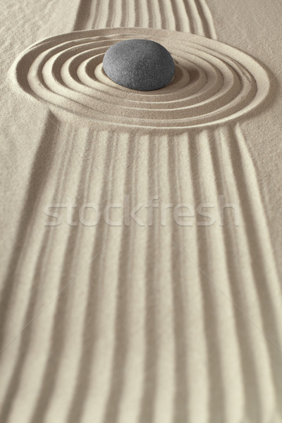 meditation rock zen garden Stock photo © kikkerdirk