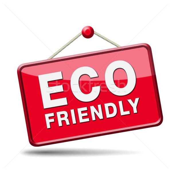 Környezetbarát bio felirat termék címke garantált Stock fotó © kikkerdirk
