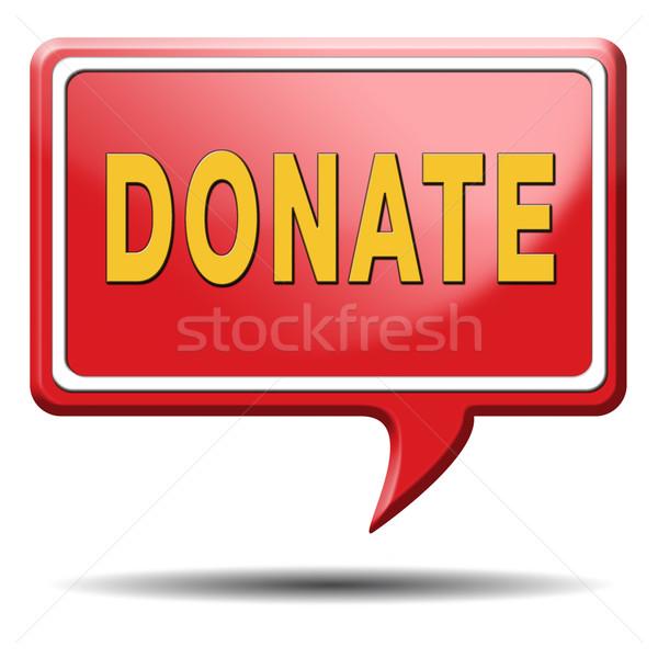 Darować dać dobroczynność pomoc fundusz ceny Zdjęcia stock © kikkerdirk