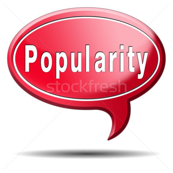 Popülerlik ün ünlü etiket ikon çok satan Stok fotoğraf © kikkerdirk