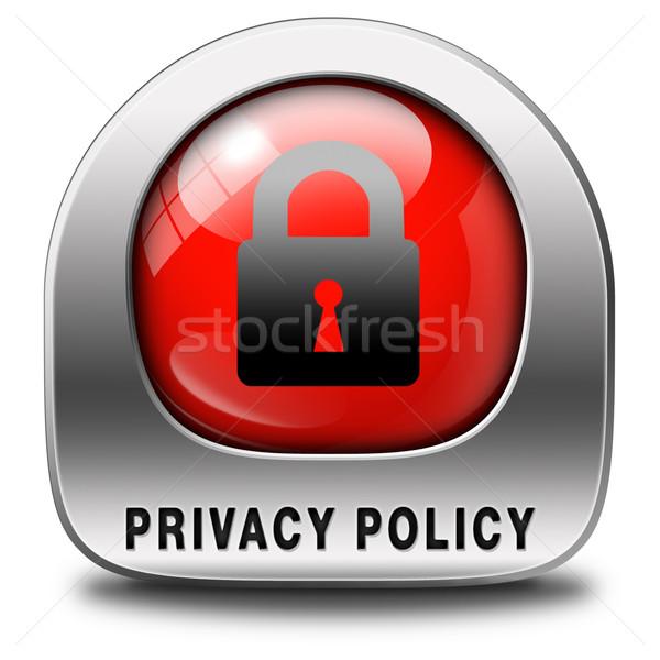 Privatsphäre Politik Daten persönlichen Informationen Schutz Stock foto © kikkerdirk