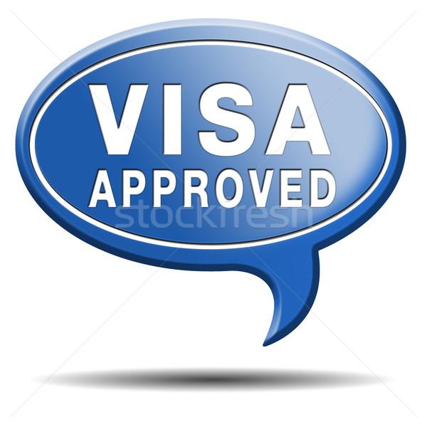 Visa immigration tampon frontière Photo stock © kikkerdirk