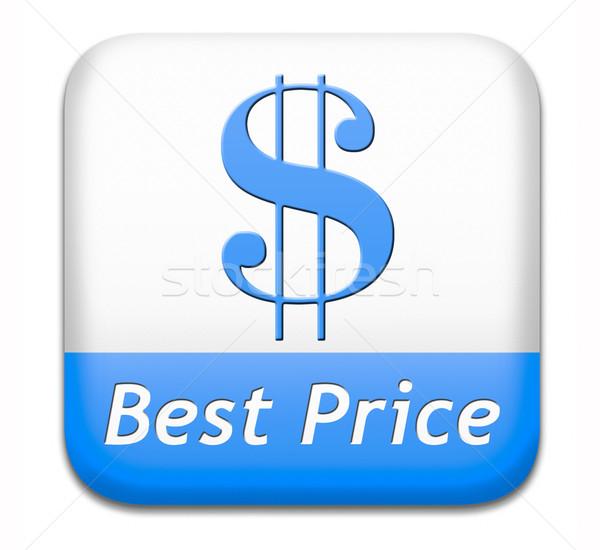 Beste prijs label icon best verkoper Stockfoto © kikkerdirk
