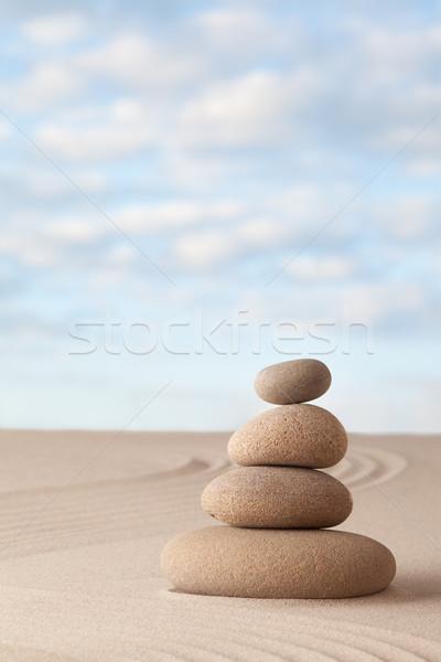 Meditasyon zen bahçe uyum dengelemek Stok fotoğraf © kikkerdirk