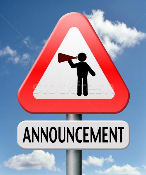 announcement Stock photo © kikkerdirk