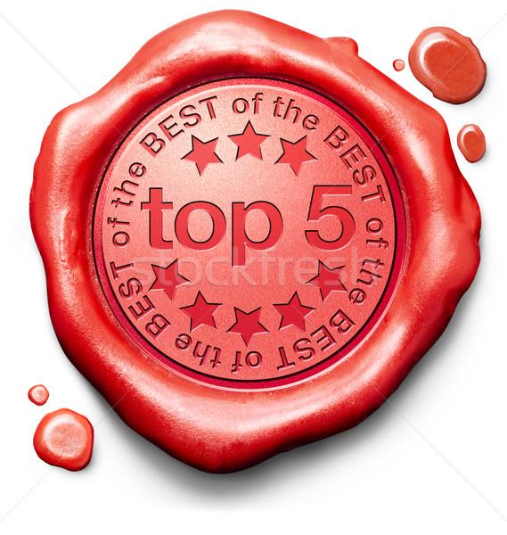 Top Charts Liste Pop Umfrage führen Stock foto © kikkerdirk