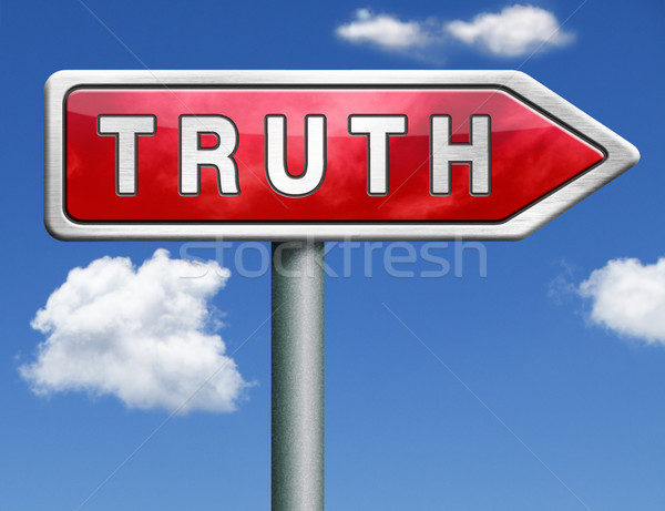 truth road sign arrow Stock photo © kikkerdirk